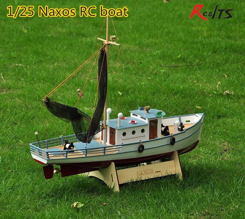 RealTS Классическая рыболовная лодка Модель Масштаб 1/25 NAXOS RC рыболовный корабль пульт дистанционного управления деревянная лодка модель комп