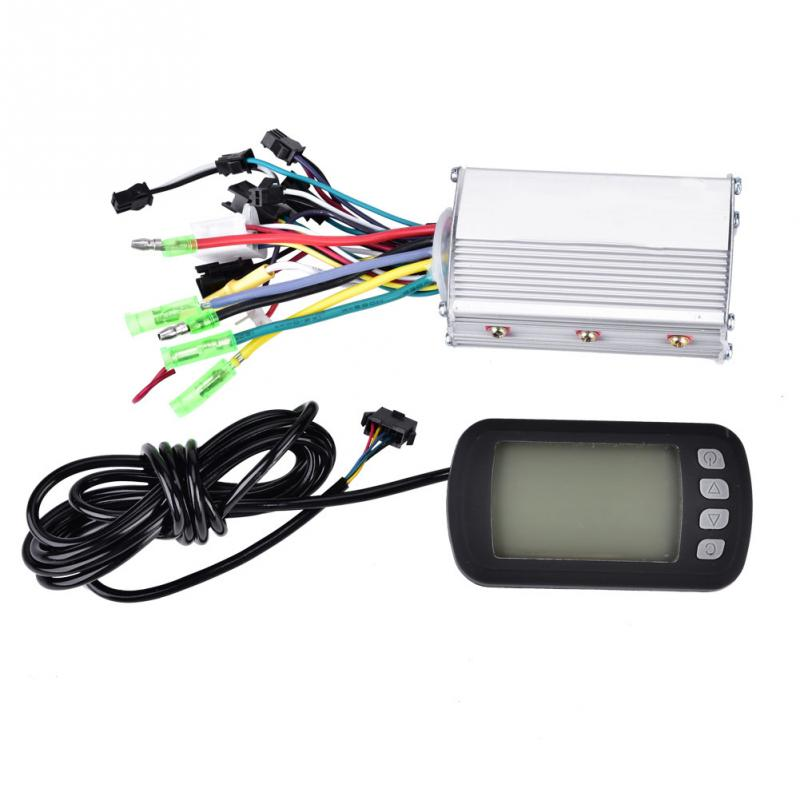 36V 48V 350W Brushless Electric Bicycle Controller with LCD Panel for E bike Electric Bike Motor