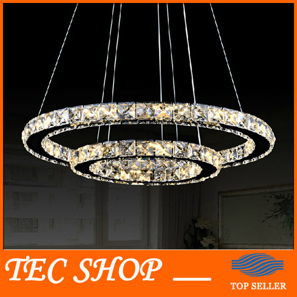 купить Best Price Modern Minimalist Living Room Crystal Lamp Circular LED Chandelier Creative Round Crystal Light Decorative Light онлайн