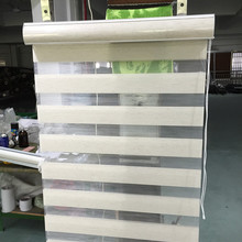 Free shipping zebra blinds double layer roller blinds for customized size