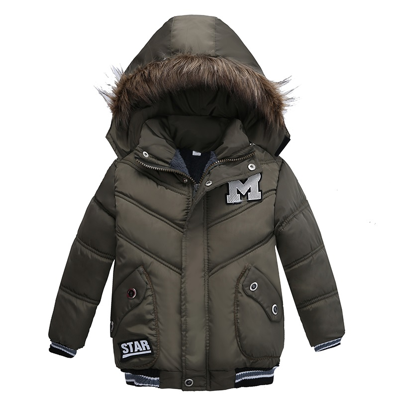 New Fashion 2017 Winter Jacket For Boys Parkas Children Outerwear Coat Hooded Jacket Kids Warm Cotton-Padded Clothes Boys Jacket russia 2016 children outerwear baby girl winter wadded jacket girl warm thickening parkas kids fashion cotton padded coat jacket