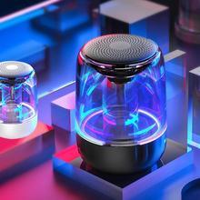 C7 Bluetooth 5,0 Bluetooth Usb радио динамик прозрачный светодиодный светящийся сабвуфер TWS 6D объемный HIFI стерео крутой аудио