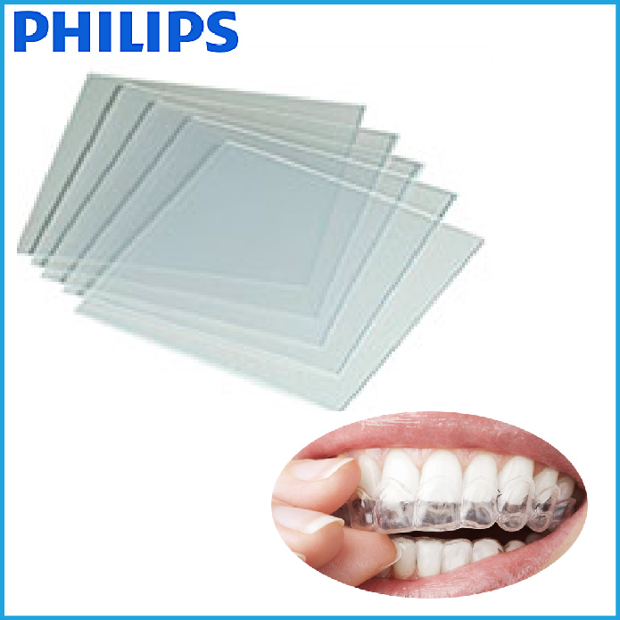 EVA tray material for fabricating custom-fitted whitening mouth trays philips zoom whitening flexible soft grinigh teeth whitening thermoforming mouth tray oral hygiene dental mouth guards 200pcs eva medical standard material