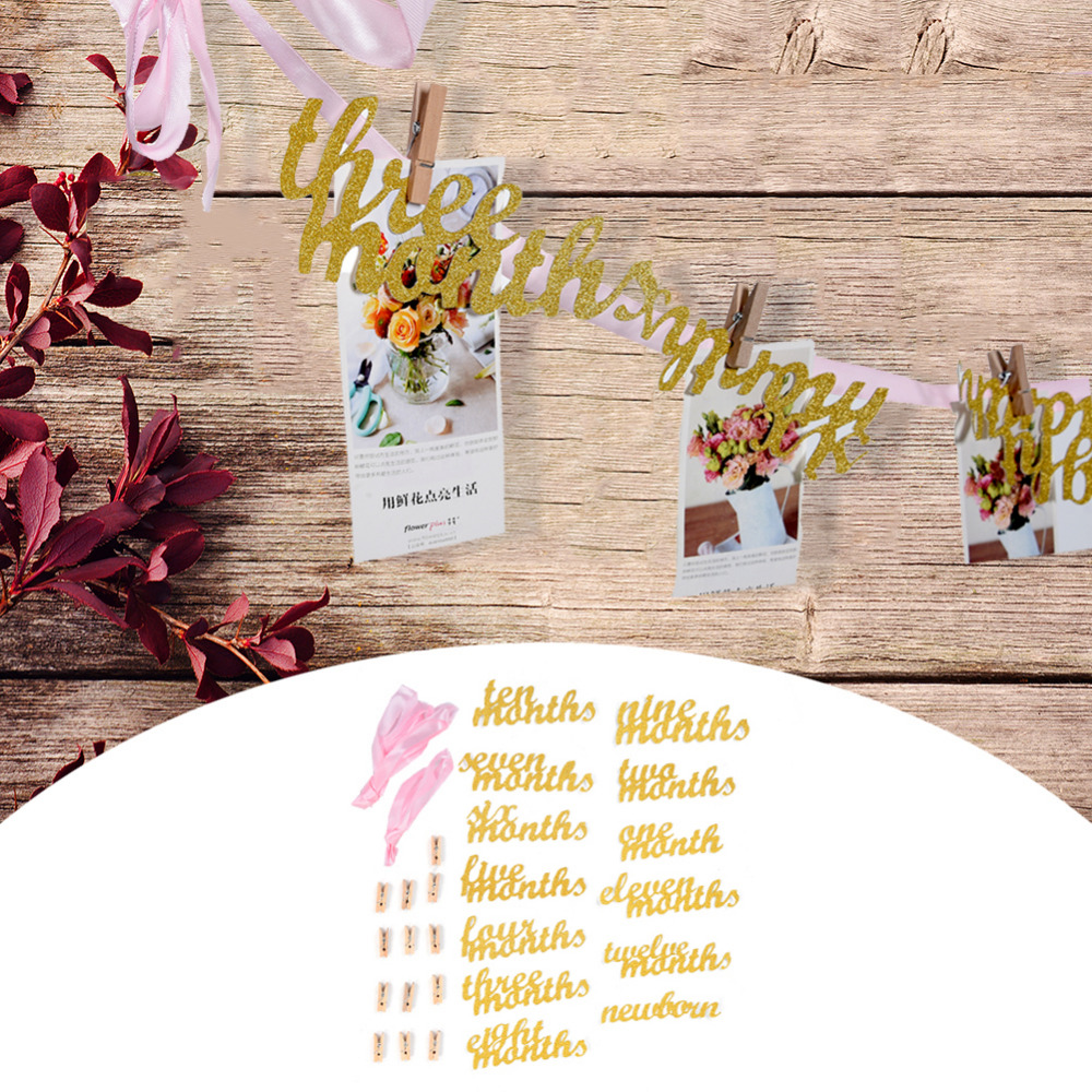 1set from new born to 12 month birthday party decoration photo frame 1set from new born to 12 month birthday party decoration photo frame decoration wedding ceremony marriage proposal decoration in party diy decorations from izmirmasajfo