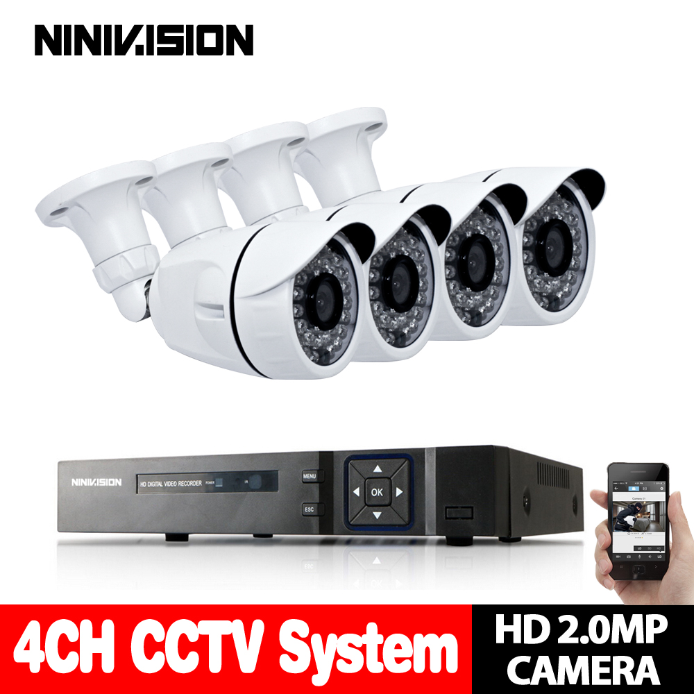 AHD-H 1080N 4CH CCTV System AHD CCTV DVR 4 stücke 2.0MP 1080 p IR Außen Sicherheit Kamera 36Led HD 3000TVL home Surveillance System