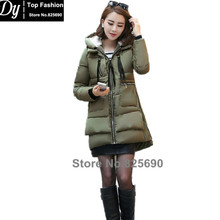 New Wadded Winter Long Jacket Women Hooded Cotton Jacket Fashion 2016 Girls Loose Hip-Hop Parkas Female Coat