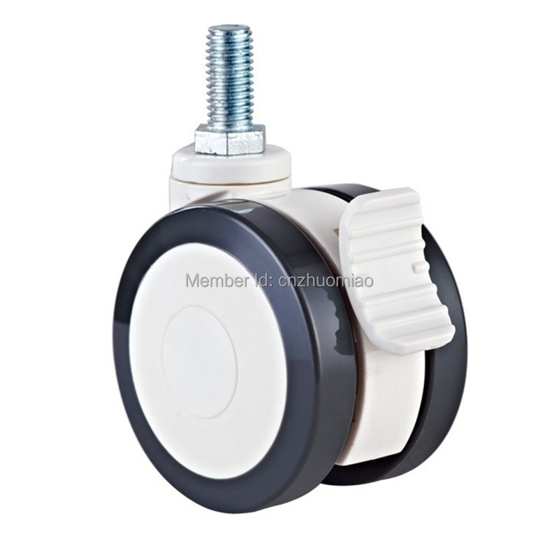 3 inch High quality for hospital bed or portable diagnostic dual tread wheels in thread stem type medical caster wheel in Casters from Home Improvement