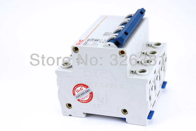 цена на DELIXI DZ47LE-63 C32 4P 32A low voltage circuit protection residual current circuit breaker Switch for the family