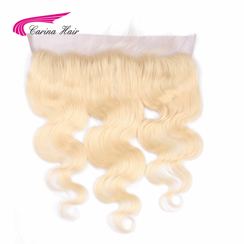Carina Hair Brazilian Non Remy Human Hair Pure 613 Color 13 4 Ear to Ear Lace