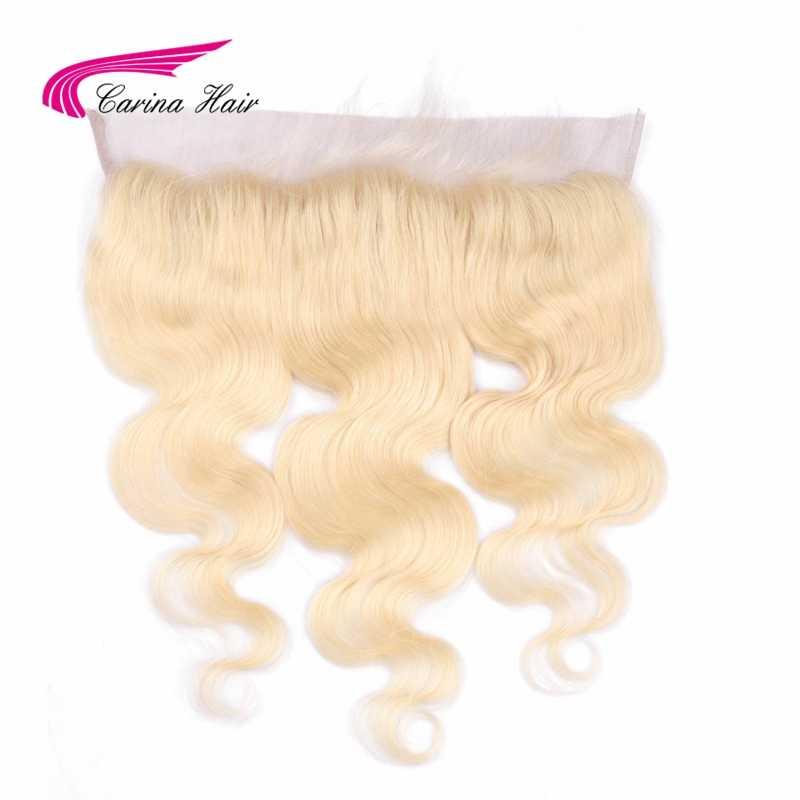 Carina волосы бразильские Remy человеческие волосы чистый 613 цвет 13*4 уха до уха Кружева Фронтальная Закрытие швейцарское кружево отбеленные узлы