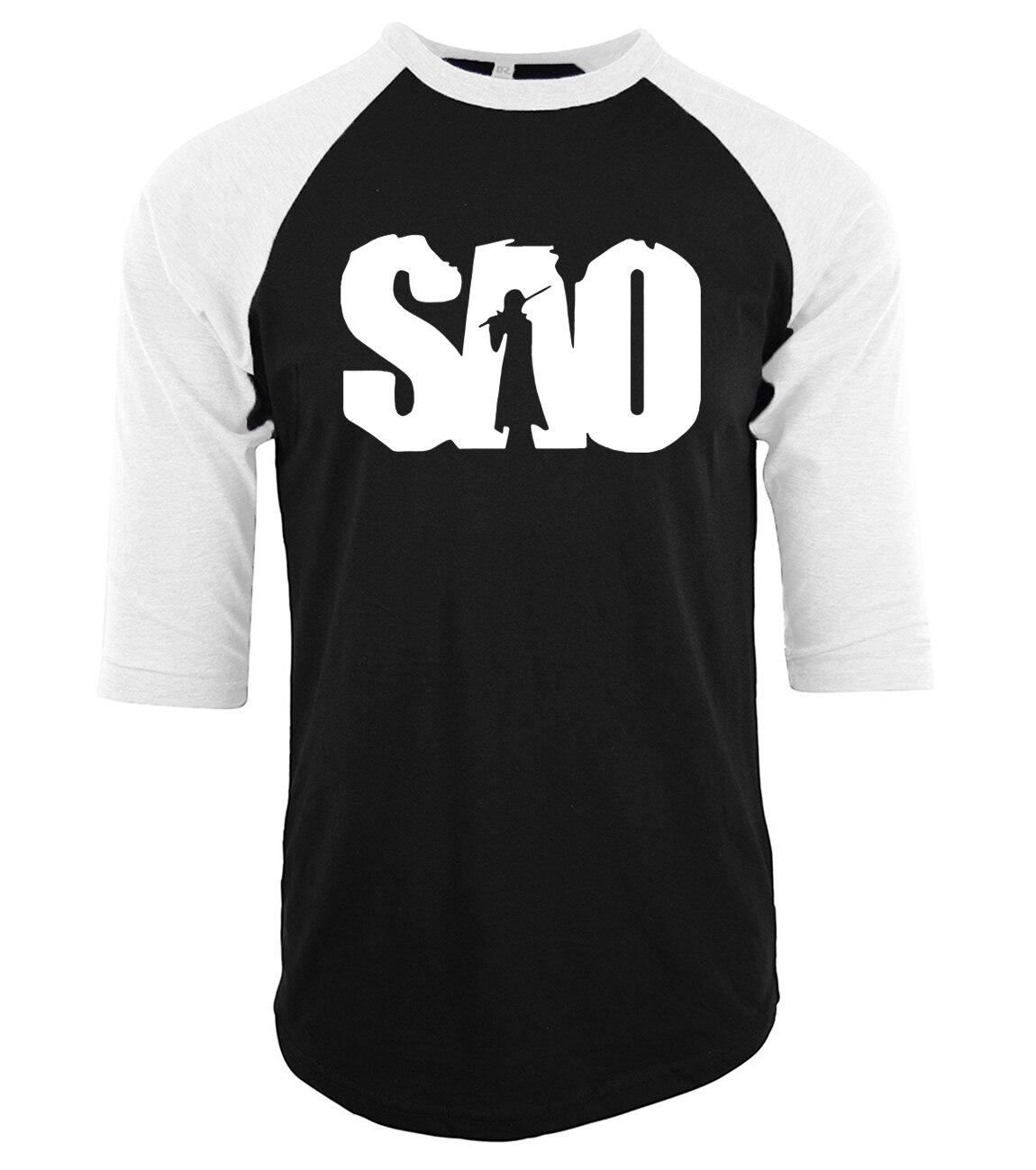 2019 Cotton three-quarter sleeve mens T-shirts  black top  T Shirt fashion fashion raglan kpop brand clothing mma