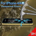 New 0.3mm 2.5D Ultrathin Premium Tempered Glass For iPhone 4 4s Screen Protector Protective Film 100pcs/lot