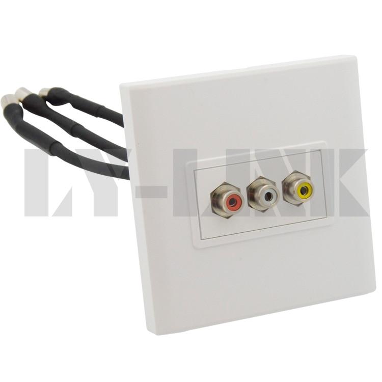 AV 3RCA with short cable wall plate support DIY видеорегистратор artway av 711 av 711