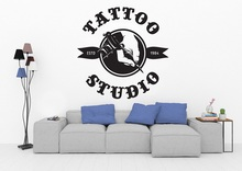 Tattoo Salon Vinyl Wall Sticker Shop History Tattoo Machine Logo Tattoo Studio Poster Shop Sign Art Deco Sticker 2WS10