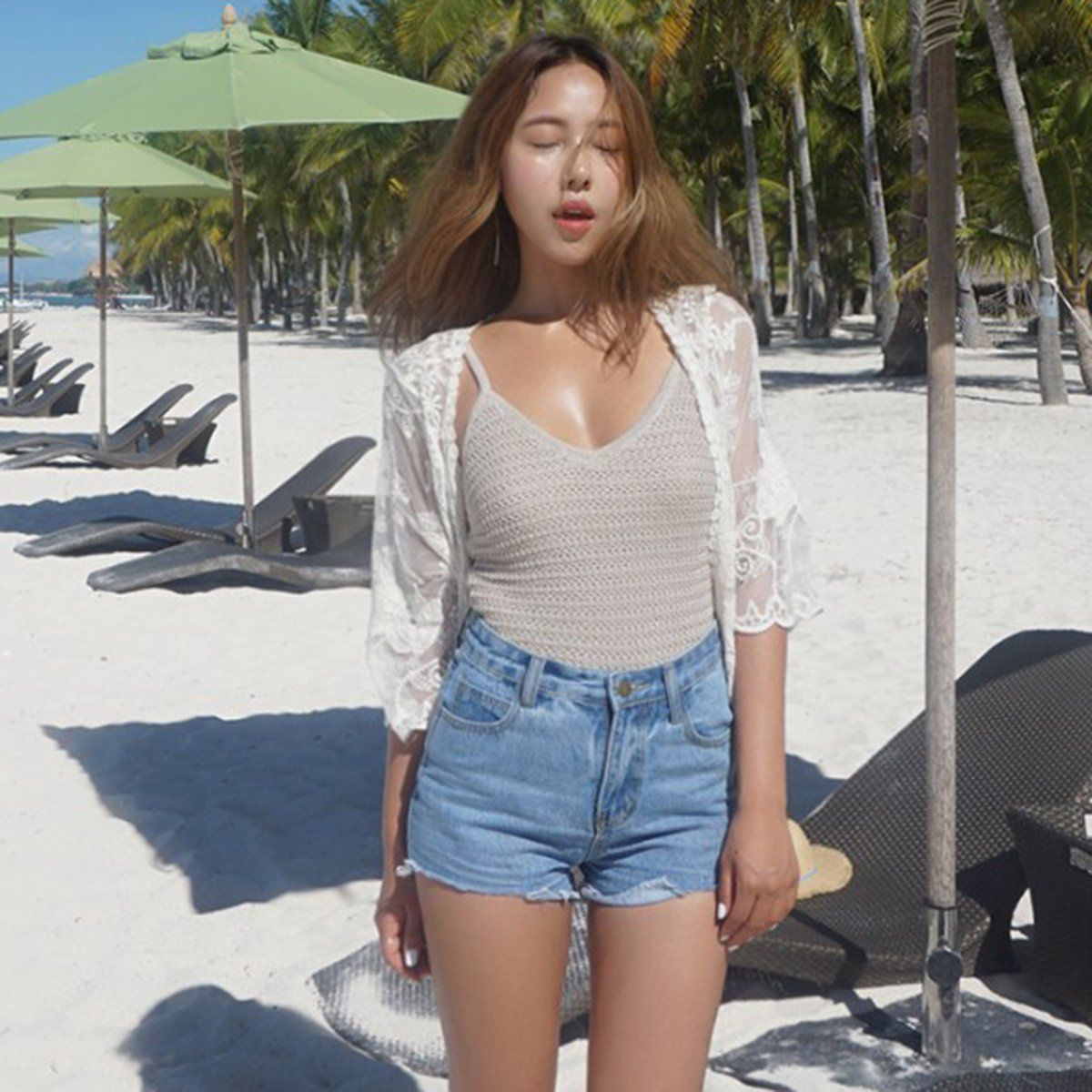 Women Lace Beach   Blouse   Kimono Cardigan Summer Cover Up Blusas Cover Up Sun   Blouses     Shirt   Tops   Blouse   Sexy Plus Size   Shirt   Tops