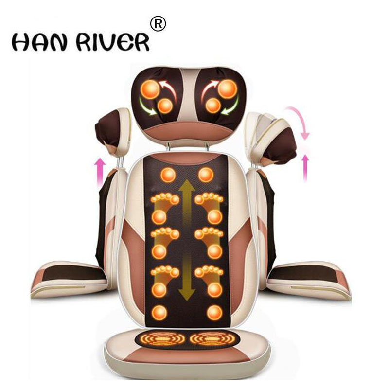 HANRIVER Massage pad neck cervical vertebra massage device household full-body multifunctional cushion electric massage chair electric full body multifunctional massage mattress vibration massage device massage cushion infrared full body massager