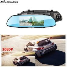 Big sale MALUOKASA Car DVR 7 Inch Rearview Mirror Camera Full HD 1080P Dash Cam Digital Video Recorder Dual Lens Registratory Camcorder