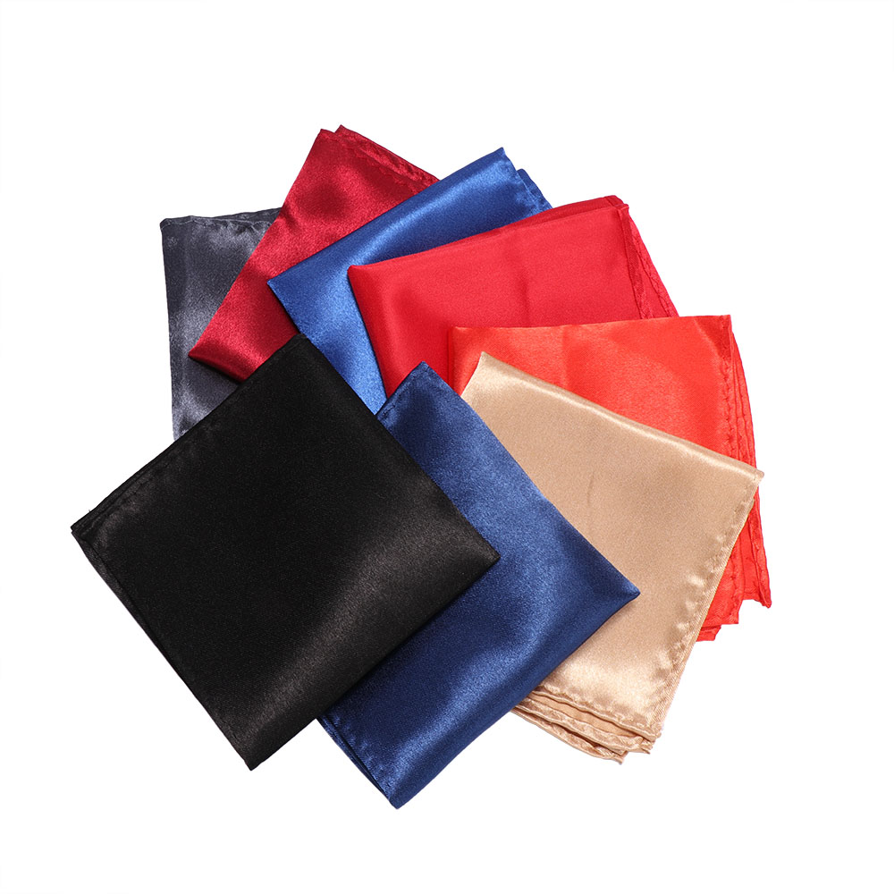 Paisley Mens Wedding Pocket Square Silk Match For Suit Tie Men's Handkerchief Accessories Jacquard  Solid Colors