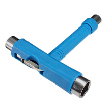 ELOS-Roller Rollerskate Skateboard Scooter All in 1 T Skate Board ATB Tool + Allen Key blue