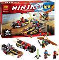 2016 New BELA Ninja Bike chase Building Blocks Set 3 In 1 Kai's Blade Bricks toys Compatible legoINGlys 70600