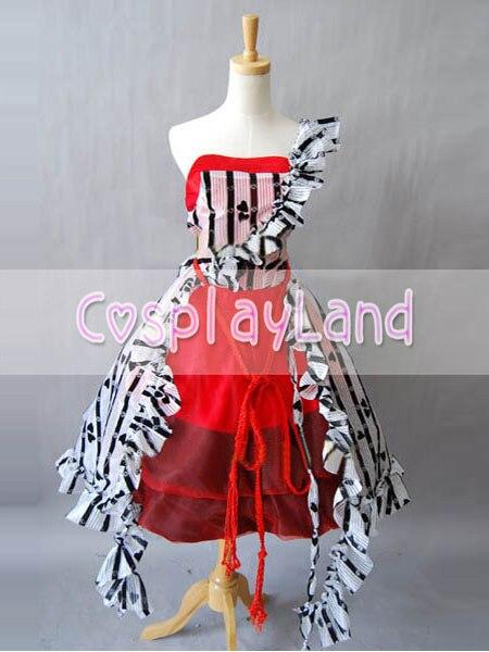 Alice In Wonderland Cosplay Alice Red Court Dress Costume Custom Made Halloween Princess Costume