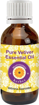FRee Shipping Pure Vetiver Essential Oil Vetiveria zizanoides 100% Natural Therapeutic Grade  5ML