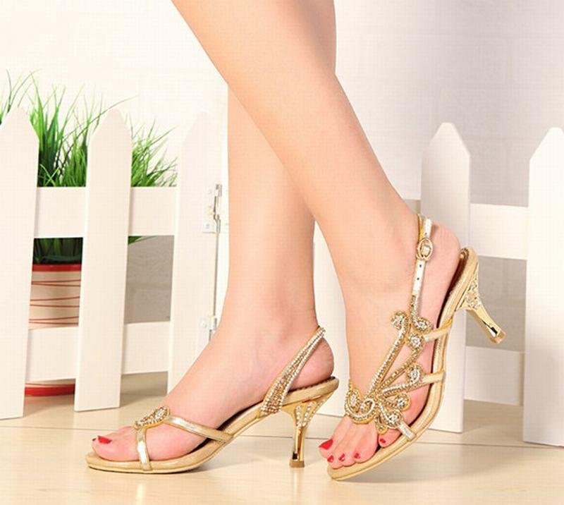 e1eb8c2914e6f1 Mariage Femme Talons Femmes Purple black Cristal 44 Strass Hauts Pompes  Partie gold La Taille Plus De Gladiateur Sandales Boucle Chaussures ...