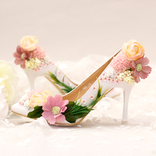 bride shoes high-heeled shoes women's shoes banquet toast shallow mouth women shoes red bottom high heels
