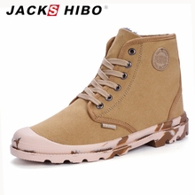 JACKSHIBO 2016 winter fashion mens canvas boots,classic quality add fur insole man boots footwear,popular men canvas shoes sales