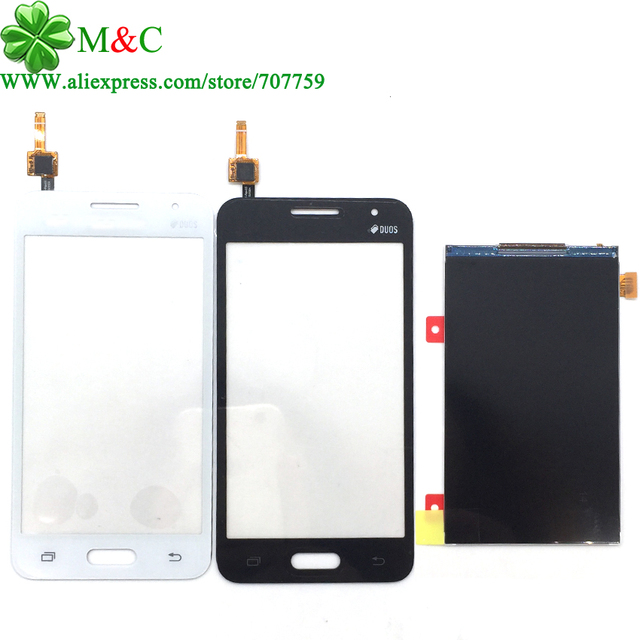Оригинал G355 Сенсорный ЖК-Панель для Samsung Galaxy Core 2 G355 G355H G3559 G3556D ЖК-Дисплей С Сенсорным Экраном Дигитайзер Панели