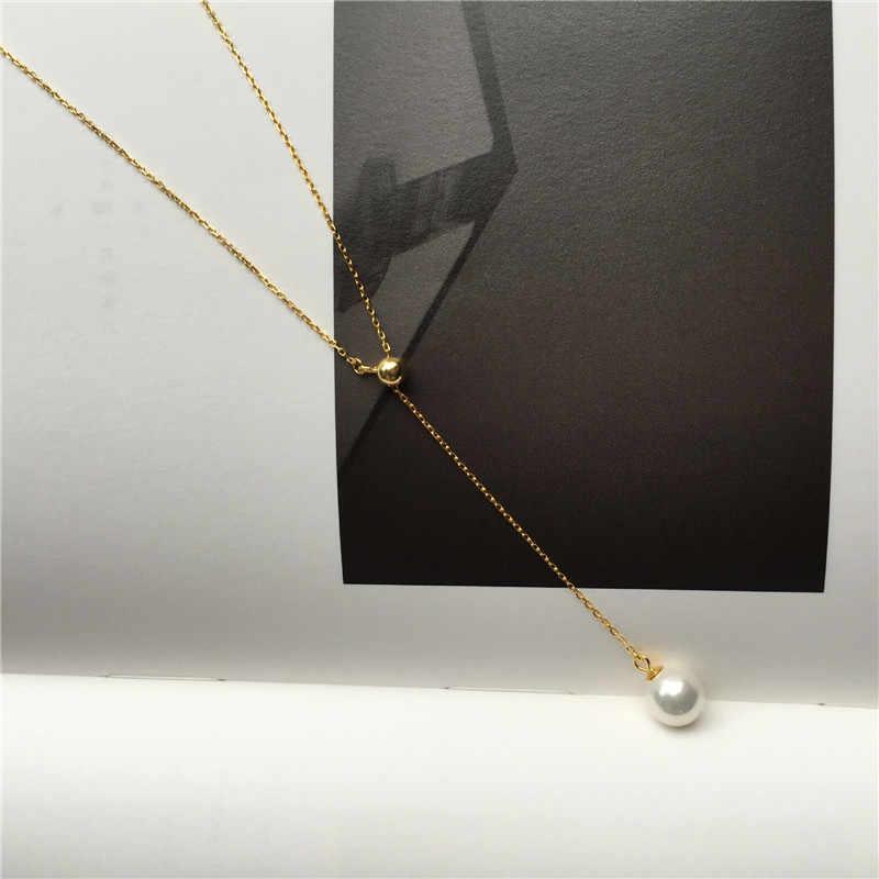 قلادة أنيقة بدلاية على شكل قطرة ماء من INZATT عقد 2018 أصلي من الفضة الإسترليني عيار 925 مجوهرات راقية للنساء هدايا إكسسوارات لطيفة