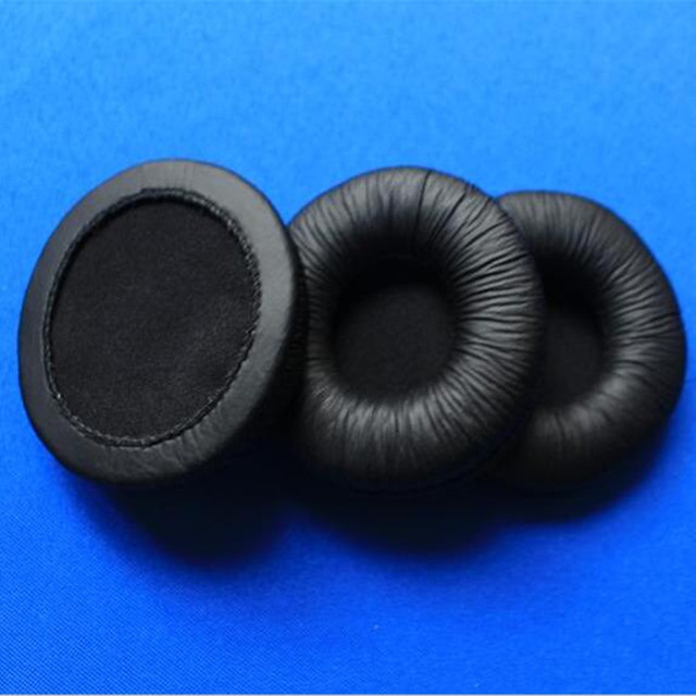 Linhuipad 5 pairs 7cm headphone Leather Ear Earpads Cushions 70mm durable sponge cushion for Sony MDR-V150 V250 V300 ATH-SJ5 SJ5