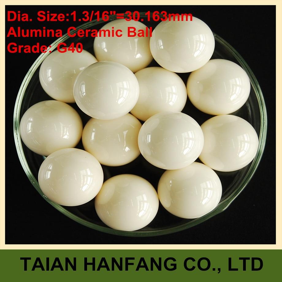 30.163mm Alumina Oxide Ceramic Ball Al2O3 G40 Used for Pump/Valve/Flow-Meter/etc. 30.163mm Ceramic Ball цены