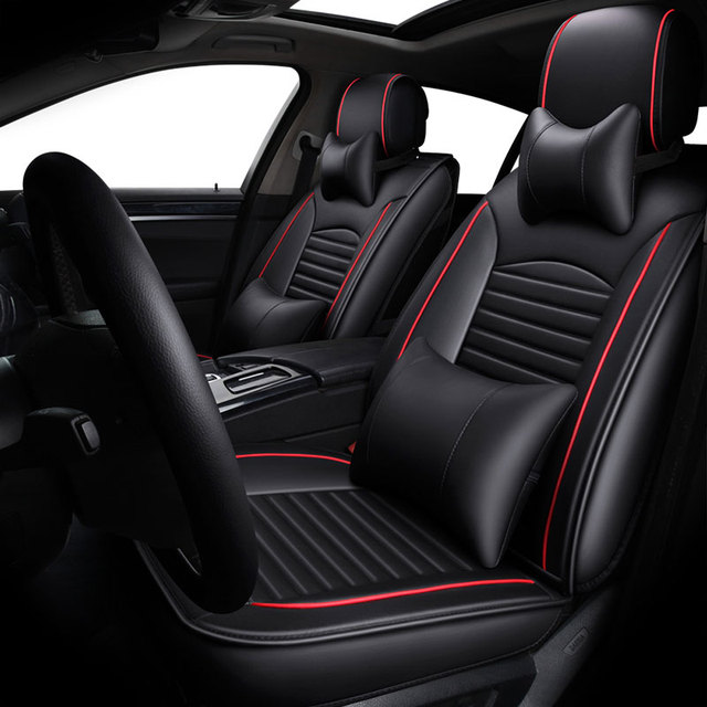 leather auto universal car seat cover covers for ford mustang ranger c max galaxy ecosport. Black Bedroom Furniture Sets. Home Design Ideas