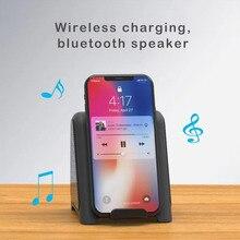Smart 2 in 1 Wireless Charger Bluetooth Speaker Portable Phone Holder Speaker Super Subwoofer Stereo Speaker for Mobile Phone