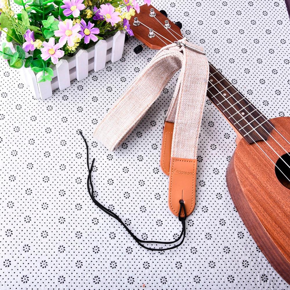 Ukelele deel katoen en linnen ukelele bandjes met 1 set gespen zachte - Muziekinstrumenten - Foto 6