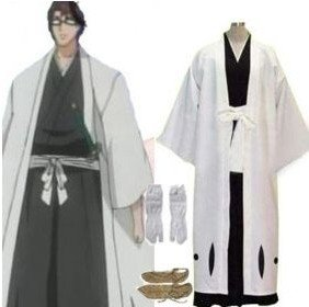 Anime Bleach Cosplay - Bleach 5th Division Captain Aizen Sousuke Cosplay Costume Best costume for Halloween Freeshipping