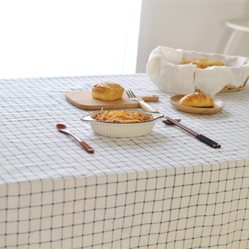 Mediterranean Plaid Tablecloth Wedding Party Banquet cotton Table cloths cloth christmas round fabric Covers For Home Decoration