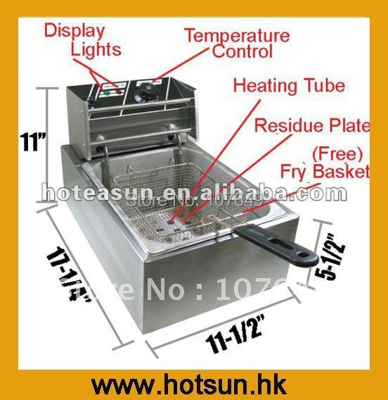 1 Tank 1 Basket Stainless Steel Electric Immersion Deep Fryer salter air fryer home high capacity multifunction no smoke chicken wings fries machine intelligent electric fryer