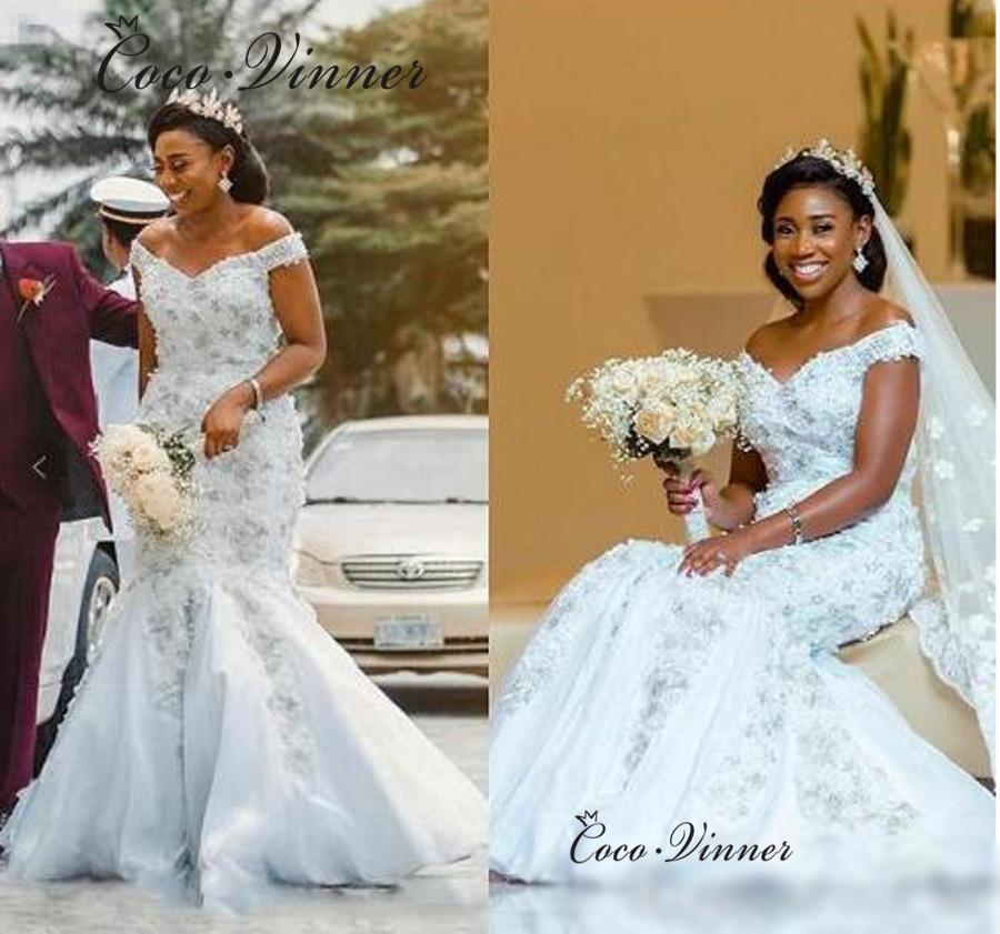 Luxury Embroidery Beading Wedding Dress 2019 Gelinlik Wedding Gowns Crystal Appliques Quality Mermaid Wedding Dresses W0461