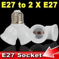 kebidu Е27 для двойной двойной 2x Лампа E27 продлить база разъем сплиттер галогенные лампы свет адаптер конвертер date мед контактор