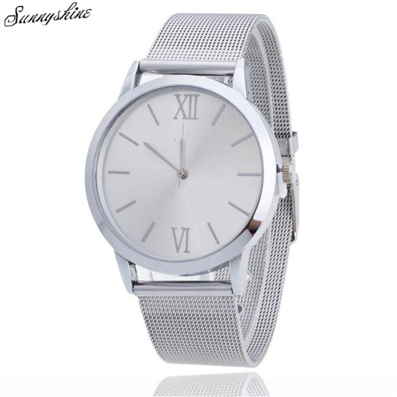 Fashion Women Ladies Watches Silver Stainless Steel Waterproof Clock Mesh Band Wrist Watch wholesale  high quality women s watch women ladies silver stainless steel mesh band wrist watch top gifts dropshipping m18