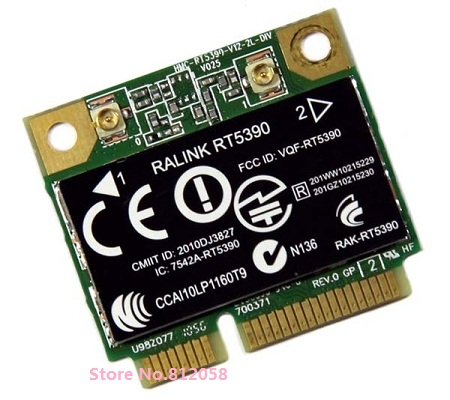 SSEA Wholesale For Ralink RT5390 Half Mini Pci-e WiFi Card For HP G7 CQ57 436 435 431 4230S 4330S SPS:630703-001 Free Shipping