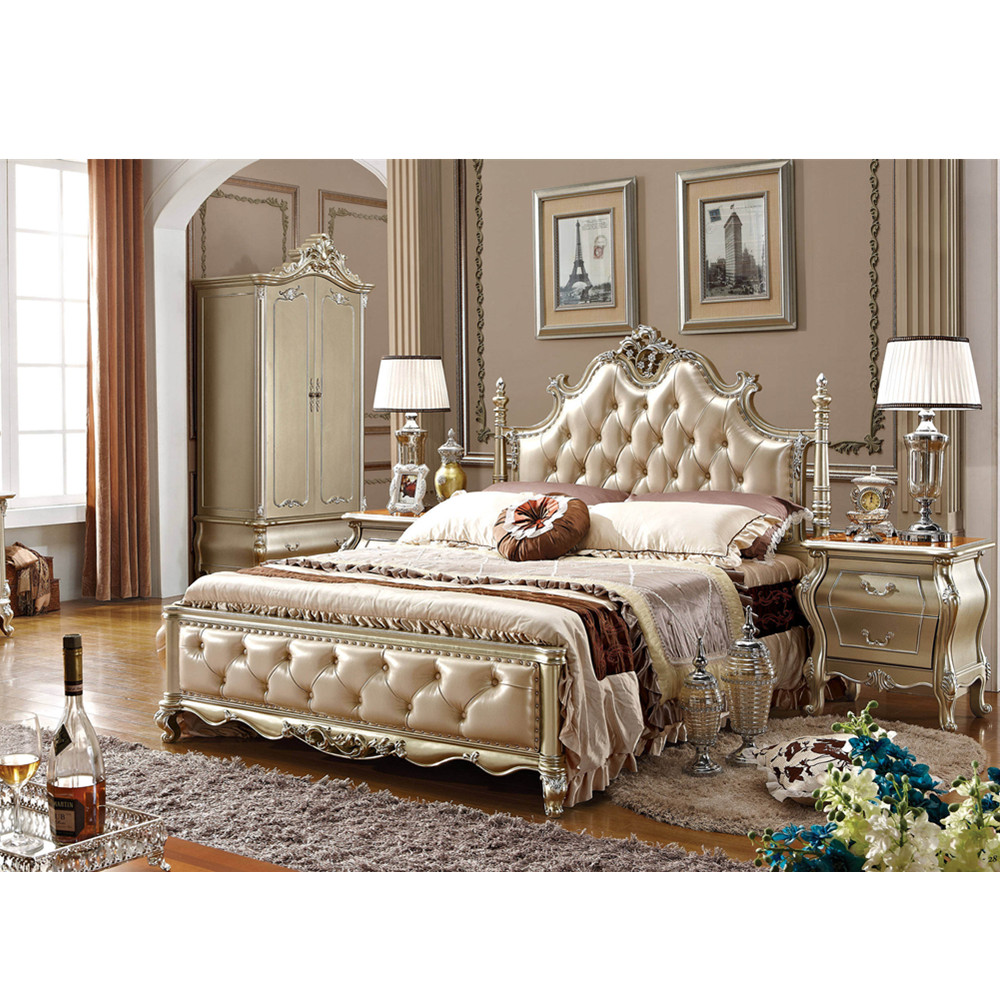 High Quality Classic Wood Furniture Bedroom-in Bedroom