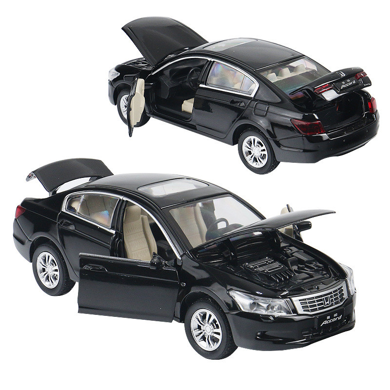 4 Open Door Music &flash& Toy Vehicles Wholesale 1:32 Alloy Pull Back Car Toys,high Imitation Alloy Honda Accord