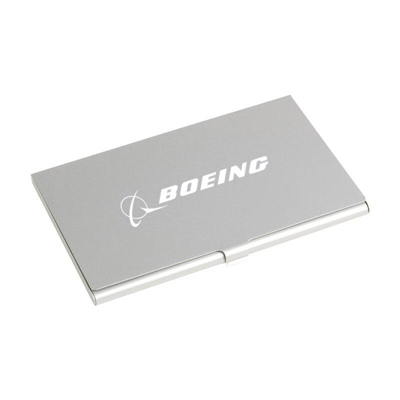 Custom Logo Business Name ID Credit Card Case Metal Aluminum ...