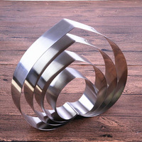 7pcs/set 4 10 inches heart shape mousse ring mould stainless steel candy bread cheese cake mold baking tool ZA6873