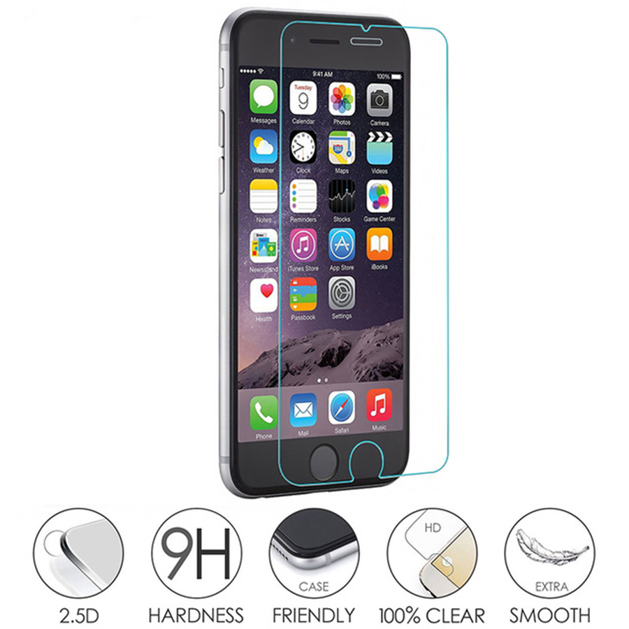 Glass protective cover for iphone 5s tempered glass on the