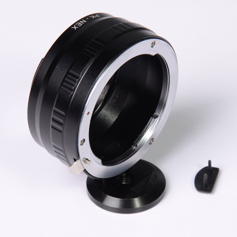 Lens Adapter Ring with Tripod 1/4 Mount For Pentax K PK Lens and SONY NEX E Mount NEX-7 NEX-5 NEX-3 lens mount adapter for pentax pk k mount lens to sony nex e mount camera body fits sony nex 3 nex 3c nex 3n nex 5 nex 5c nex