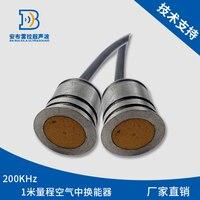 Ultrasonic transducer 1m range stainless steel shell piezoelectric ceramic transducer DYA 200 01F